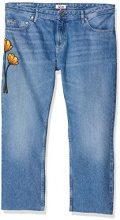 Hilfiger Denim Straight Cropped Lana Embroidered Bmbr, Jeans Dritto Donna, Blu (Blossom Mid Blue Rigid 911), W31/L30