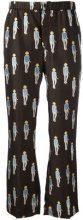 Dondup - patterned lightweight trousers - women - Silk - 40 - BROWN