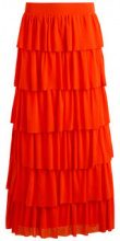 VILA Ruffle Maxi Skirt Women Orange