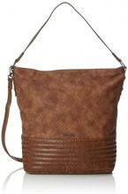 Tamaris Carla Hobo Bag - Borse a spalla Donna, Braun (Cognac Comb.), 14x55x38 cm (B x H T)