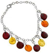Nature d'Ambre 3180832 dreambase-Bracciale Sterling-Silber 925 6 G ambra 16 cm