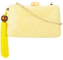 Serpui - woven clutch - women - Raffia/Polyester - OS - Giallo & arancio