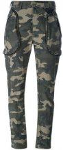 Faith Connexion - camouflage trousers - women - Cotton - S - GREEN