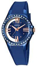 Calypso-Orologio da donna al quarzo con Display analogico e cinturino in plastica, colore: blu, K5680/6