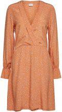 SELECTED Wrap - Long Sleeved Dress Women Orange