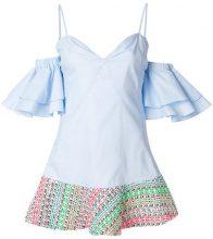 Ava Adore - Vestito corto con spalle scoperte - women - Cotton - 42 - BLUE