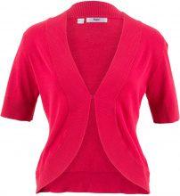 Bolero in maglia a manica corta (Rosso) - bpc bonprix collection