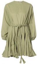 Rhode Resort - flared dress - women - Cotton - M - GREEN