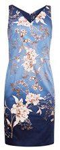 ESPRIT Collection 038eo1e011, Vestito Elegante Donna, Blu (Blue 430), 42