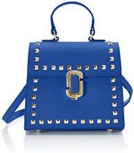 Chicca Borse 8673, Borsa a Mano Donna, Blu (Blue), 20x18x11 cm (W x H x L)