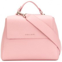 Orciani - pebbled foldover top shoulder bag - women - Leather - OS - PINK & PURPLE