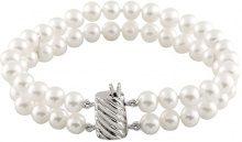 Bella Pearls Donna 925 argento Rotonda Semisferica perla cinesa da coltivazione bianco Perla FINENECKLACEBRACELETANKLET