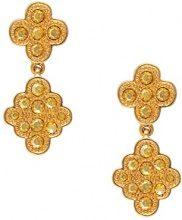 Cristalina-Orecchini placcati in oro 18 k, motivo: Arabesque Swarovski Golden Shadow per cellulare-Orecchini di cristallo