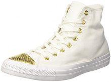 Converse Ctas Hi, Sneaker a Collo Alto Donna, Bianco (White/Gold/White), 39.5 EU