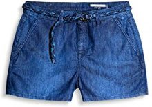 edc by Esprit 067cc1c001, Pantaloncini Donna, Blu (Blue Dark Wash 901), W27
