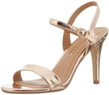 Buffalo Shoes 314258 Metallic Pu HM 333, Sandali con Zeppa Donna, Beige (Champagne 01), 36 EU