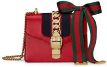 Gucci - Sylvie leather mini chain bag - women - Leather/Nylon/Microfibre - One Size - RED