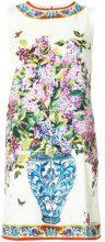 Dolce & Gabbana - Vestito a fiori - women - Silk/Spandex/Elastane - 42 - WHITE