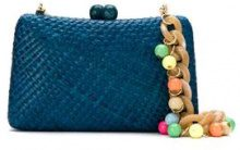 Serpui - straw clutch - women - Straw - OS - BLUE