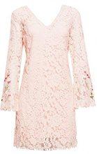 ESPRIT Collection 038eo1e028, Vestito Elegante Donna, Rosa (Pastel Pink 695), 44 (Taglia Produttore: 38)