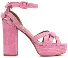 Tabitha Simmons - Sandali 'Goldy' - women - Suede/Leather - 36, 37, 37.5, 38, 38.5, 39, 40 - PINK & PURPLE