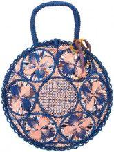 Silvia Tcherassi - woven round tote bag - women - Raffia - OS - BLUE