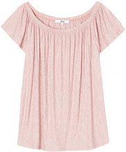 FIND Blusa in Stile Bardot Donna, Rosa (Pale Pink), 42 (Taglia Produttore: Small)