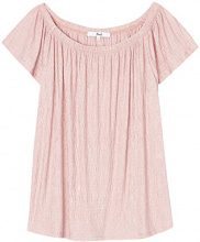 FIND Blusa in Stile Bardot Donna, Rosa (Pale Pink), 48 (Taglia Produttore: X-Large)