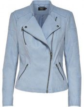 ONLY Leather Look Jacket Women Blue