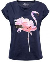 edc by Esprit 048cc1k015, T-Shirt Donna, Multicolore (Navy 400), Small
