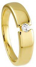 Diamond Line FINERING - Anello, con Diamante, oro giallo, misura 56 (17.8)