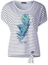 Street One 312178, T-Shirt Donna, Mehrfarbig (White 30000), 50