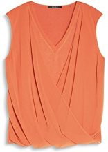 ESPRIT Collection 047eo1f014, Camicia Donna, Arancione (Burnt Orange), 38