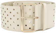 Twin-Set - Cintura con dettaglio traforato - women - Calf Leather - M, L - NUDE & NEUTRALS