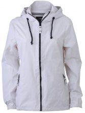 James & Nicholson - Sofshell Ladies Sailing Jacket, Giacca Donna, Bianco (White/Navy), XX-Large (Taglia Produttore: XX-Large)