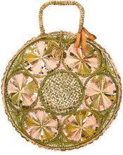 Silvia Tcherassi - medium basket shoulder bag - women - Raffia - OS - GREEN