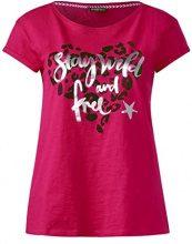 Street One 312031, T-Shirt Donna, Mehrfarbig (Black 30001), 46