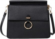 Borsa a tracolla con anello (Nero) - bpc bonprix collection