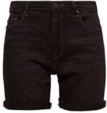 ESPRIT 048ee1c011, Pantaloncini Donna, Nero (Black Dark Wash 911), W26