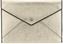 Rebecca Minkoff - Leo clutch - women - Calf Leather/Cotton - OS - METALLIC