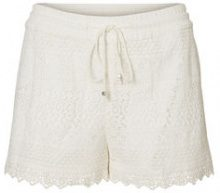 VERO MODA Lace Shorts Women White