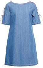 edc by Esprit 038cc1e036, Vestito Donna, Blu (Blue Medium Wash 902), Large