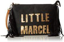 Little Marcel Vi05 - Borse a tracolla Donna, Noir (Black), 5x20x28 cm (W x H L)