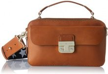 Tommy Hilfiger Fashion Hardware Leather Mini Crossover - Borse a tracolla Donna, Marron (Cognac), 6x13x17 cm (W x H L)