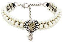 Radà - Chocker con dettaglio cuore - women - Silk/Polyester/Brass/glass - OS - WHITE