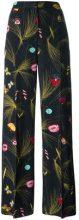 Fendi - Pantaloni con motivo a fiori - women - Polyester/Viscose/Polyamide/Spandex/Elastane - 44, 42 - Nero