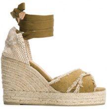 Castañer - Sandali - women - Leather/Cotton/rubber - 37, 38, 39 - GREEN