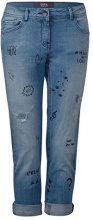 Cecil 371263 Scarlett, Jeans Straight Donna, Blau (Authentic Used Wash Mide Blue 10274), 46 (Taglia produttore: 32)