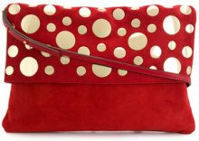 L'Autre Chose - Clutch tracolla - women - Calf Suede/Calf Leather/metal - OS - Rosso