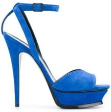 Saint Laurent - Tribute 105 peep toe sandals - women - Leather/Suede - 37.5, 38.5, 39, 39.5, 40 - BLUE